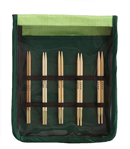 KnitPro Bamboo Deluxe Interchangeable Knitting Needle Set
