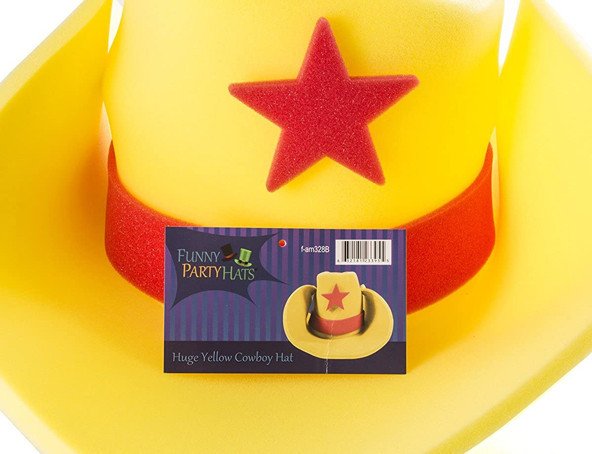 Amazon.com  Huge Cowboy Hat - Funny Cowboy Hat – Costume Cowboy Hat –  Oversize Foam Cowboy Hat – By Funny Party Hats  Kitchen   Dining 7948f5f4fab