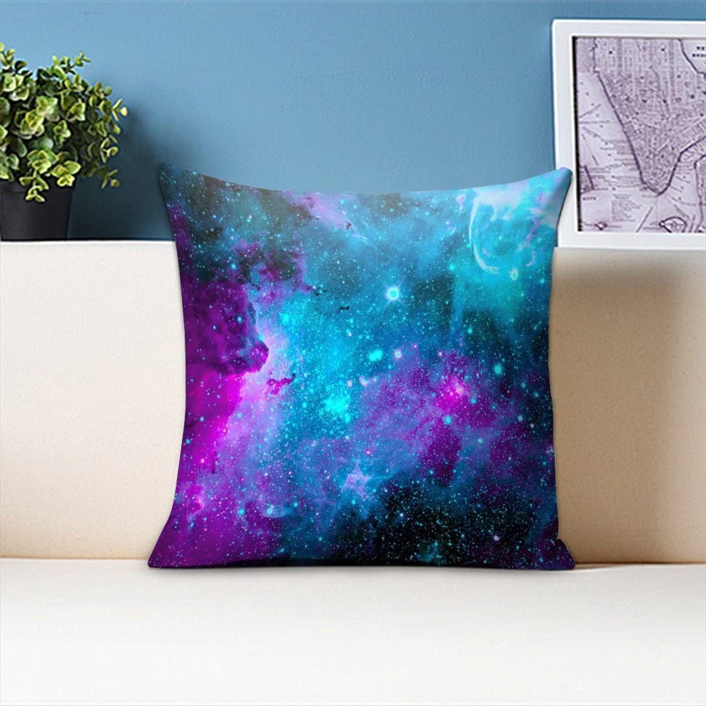 Twin Side LIULIUS 18 Inch Galaxy Cotton /& Polyester Pillow Cover Soft Square Throw Pillowcase