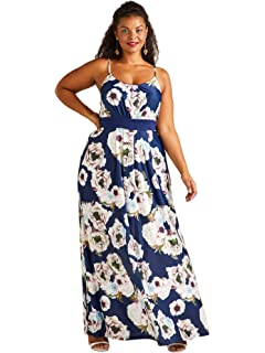 f6018d44b52 Yumi Curves Navy Floral Wrap Dress: Amazon.co.uk: Clothing
