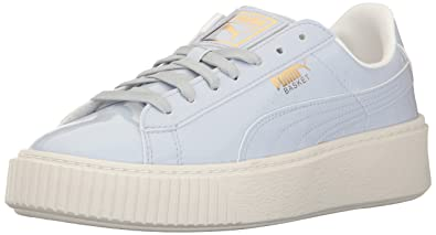ed38e0167243 PUMA Women s Basket Platform Patent WN s Field Hockey Shoe Blue-Halogen