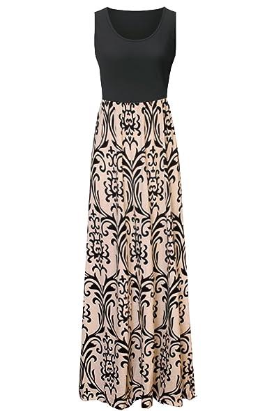 Zattcas Womens Summer Contrast Sleeveless Tank Top Floral Print ...