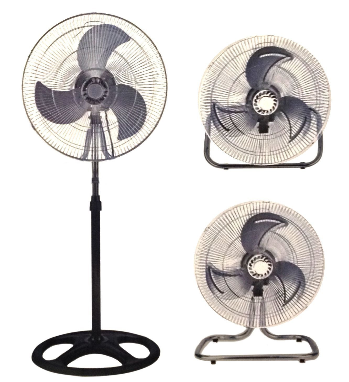 Unique Imports Industrial Fan 18″ Floor Stand Mount Shop Commercial High Velocity Oscillating – 2 Year Warranty