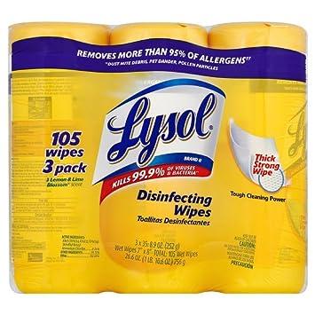 Lysol desinfección toallitas valor unidades, limón y cal Blossom, 160 ct (Pack de