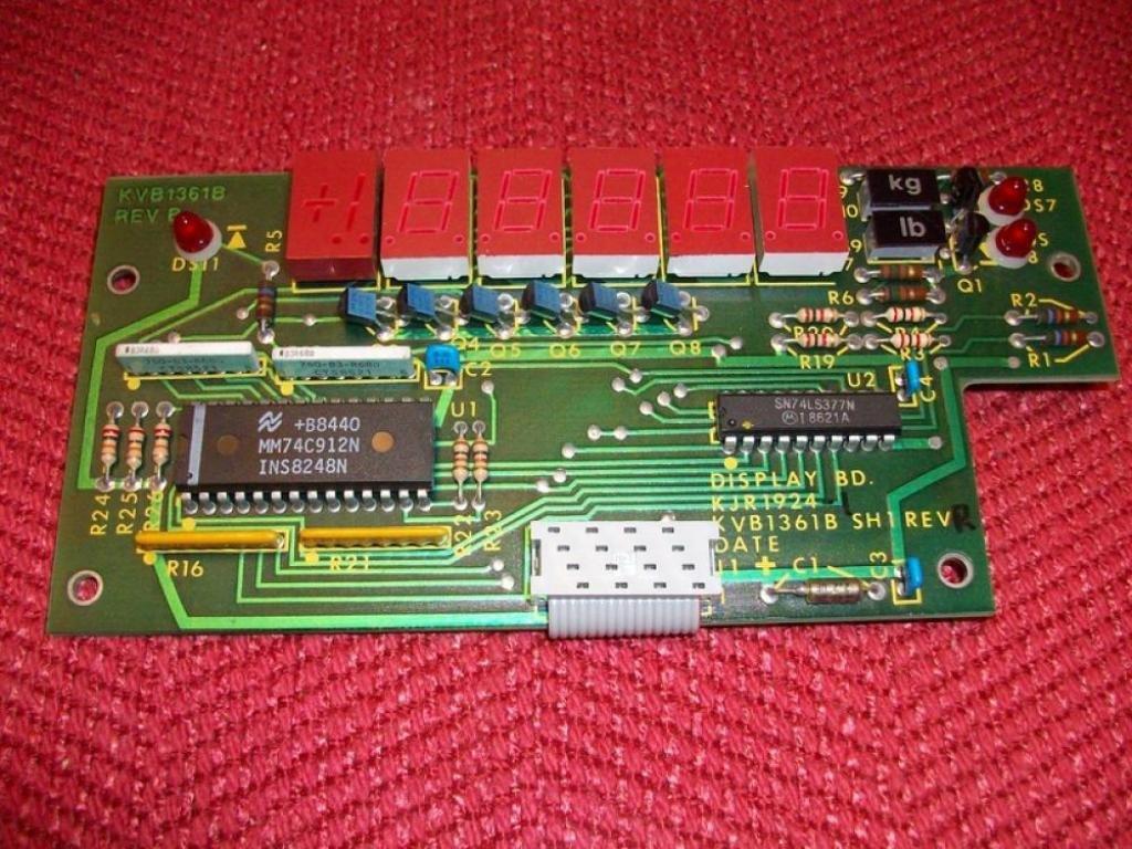 National Instruments KVB1361B Display Board SH1 Rev B KJR1924