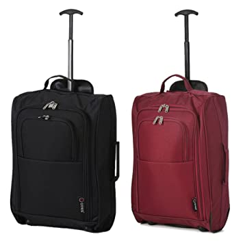 03aa169e3 Set of 2 21 quot  55cm 5 Cities Cabin Approved Hand Luggage Lightweight  Trolley Bags