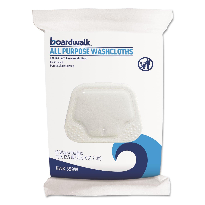 Amazon.com: Boardwalk 359WPK Premoistened Personal Washcloths, 12 1/2 x 7 9/10, Fresh Scent, 48/Pack: Health & Personal Care