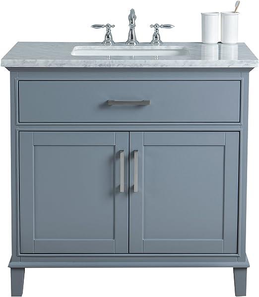 Stufurhome Hd 1475g 36 Cr 36 Inch Grey Leigh Single Sink Bathroom