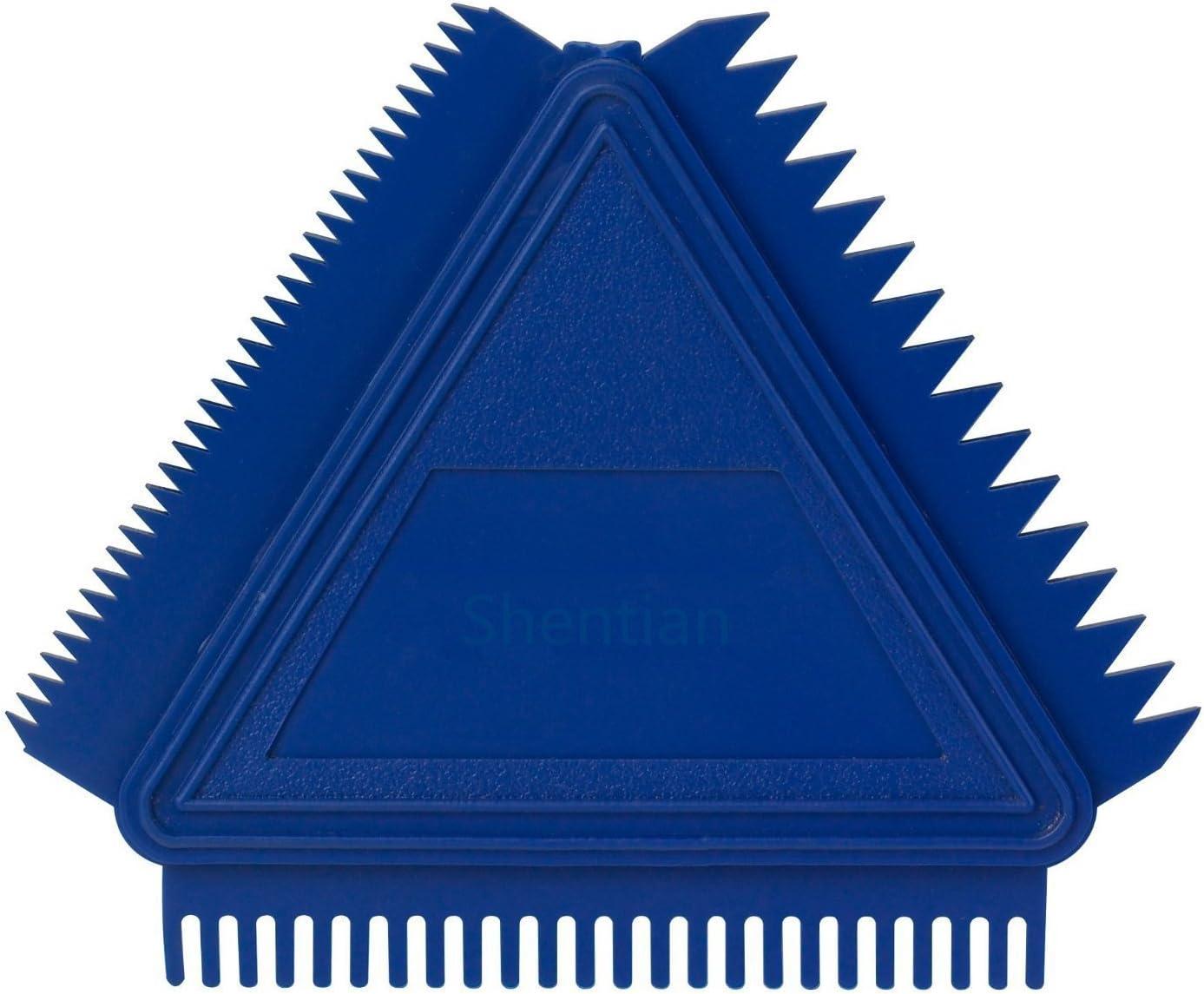 Shentian 7,6/cm triangulaire Grain Peigne Bleu