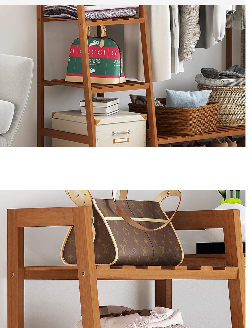 Amazon.com: ZHIRONG - Perchero de madera de bambú para ...