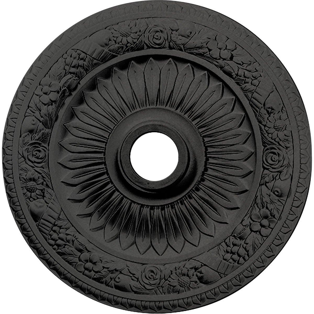 Ekena Millwork CM23BESGS 23-5/8'' x 3-5/8'' x 1-1/8'' Bellona Ceiling Medallion, Steel Gray