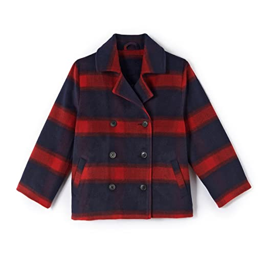 1f82ef230 La Redoute Collections Big Girls Checked Pea Coat, 3-12 Years Other Size 3