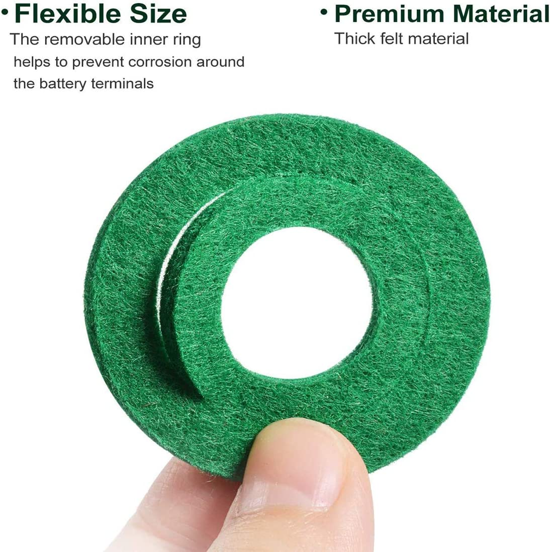 30 pcs Battery Terminal Anti Corrosion Fiber Washers Battery Terminal Protector Pads 15 Red and 15 Green