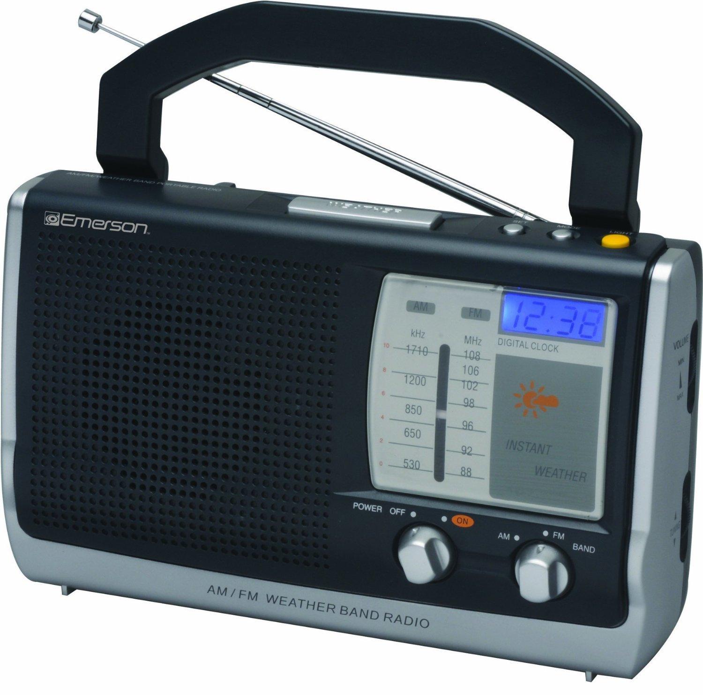 Amazon.com: Emerson Portable Weather Clock Radio (RP6251 ...