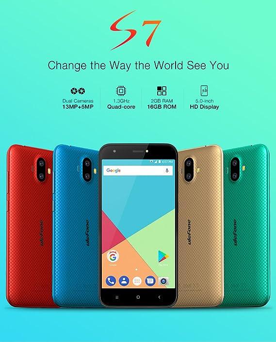 Ulefone S7 Pro - Teléfono móvil, Color Dorado: Amazon.es: Electrónica
