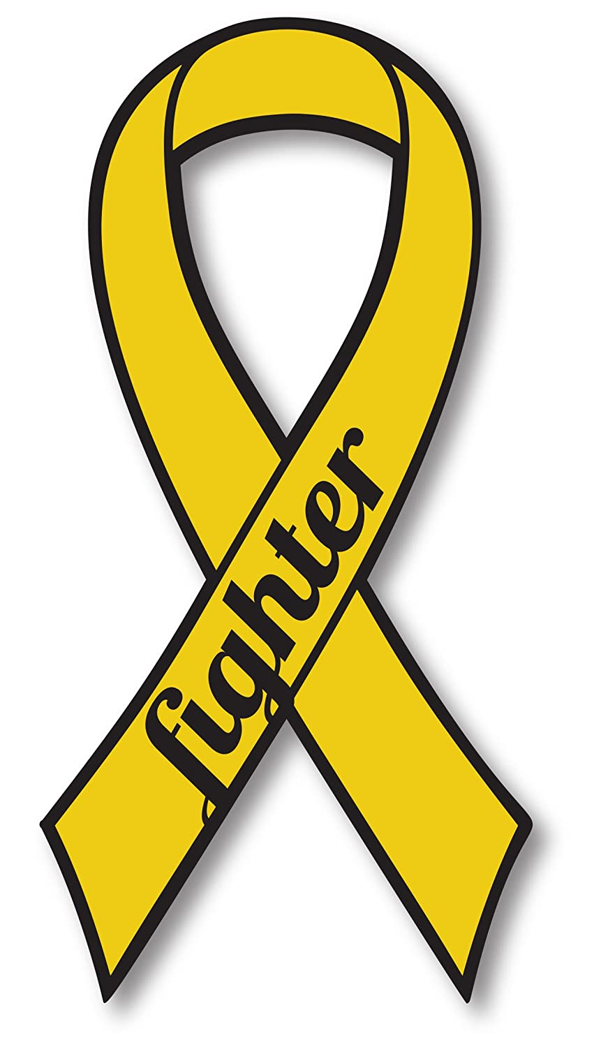 Gold Childhood Cancer Fighter Ribbon Car Magnet Decal Heavy Duty Waterproof Magnet Me Up R-28
