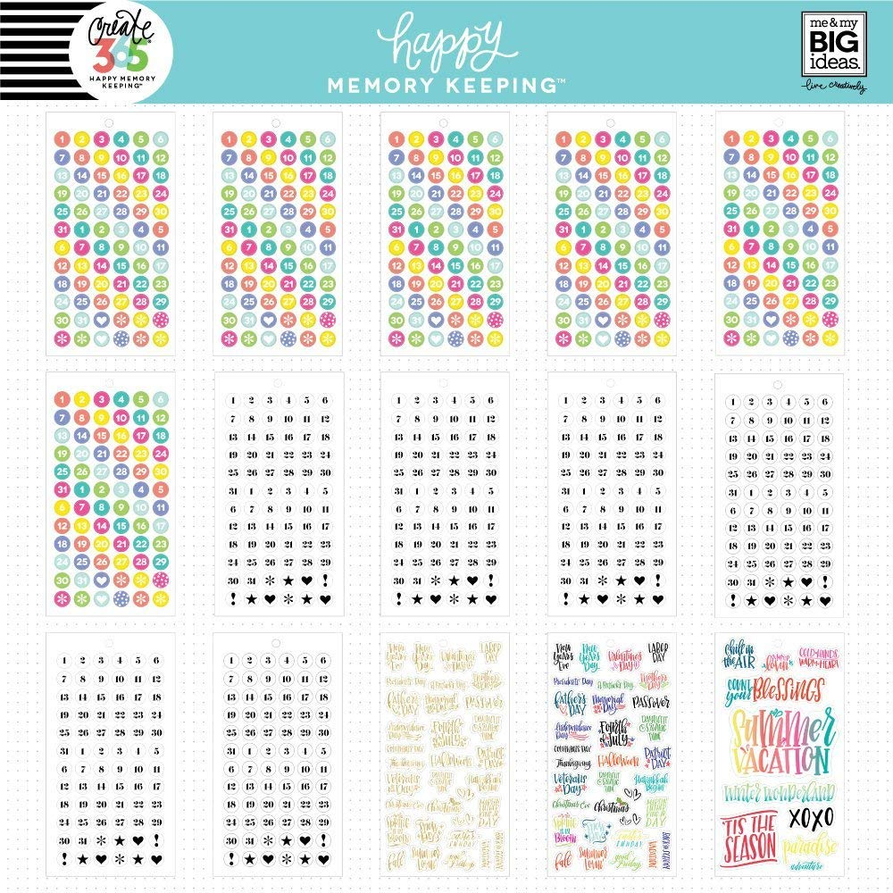 me /& my BIG ideas PPSV-31-3048 The Happy Planner Value Pack Stickers