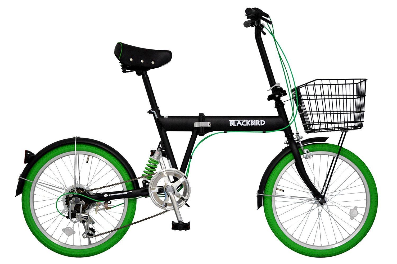 ANIMATO(アニマート) 折りたたみ自転車 BLACKBIRD AN207 グリーン B077S96CXL