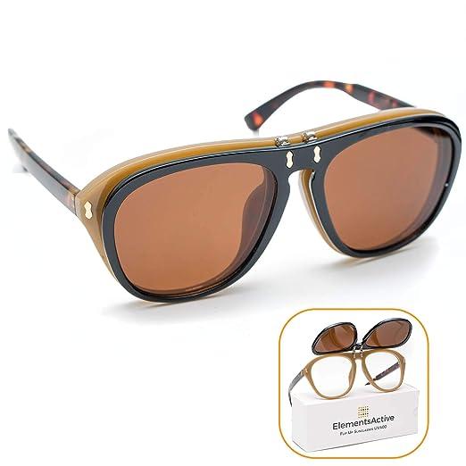 f23757e669 Designer Vintage Fashion Aviator Flip Up Sunglasses UV400 Protection  Anti-UV (Turtle)