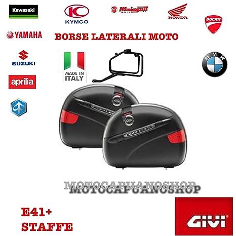2 Maletas Laterales GIVI E41 e41nn marco pl528 para Suzuki V-Strom 1000 2006: Amazon.es: Coche y moto