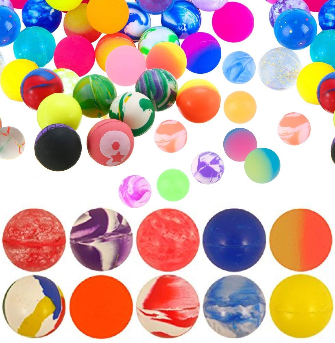 Bouncy Jet Balls Ball Party Children Toy Loot Bags Fillers Kids Gift colours