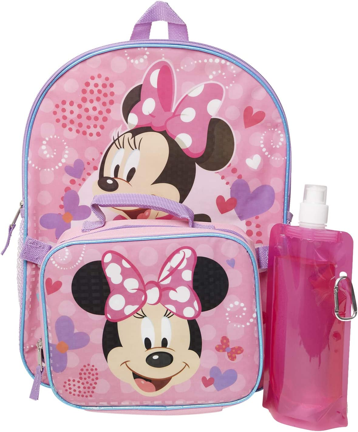 DISNEY PRINCESS MINNIE MOUSE GIRLS CARTOON SCHOOL NURSERY BAG BACKPACK LUNCH BAG