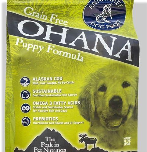 Annamaet Ohana Puppy Formula Dry Dog Food 5 Lb. Bag. with Wild Alaskan Cod Grain Free Puppy Food