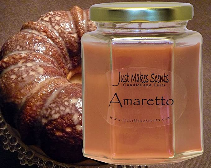 Amazon.com: Amaretto Scented Blended Soy Candle by Just Makes Scents: Home & Kitchen