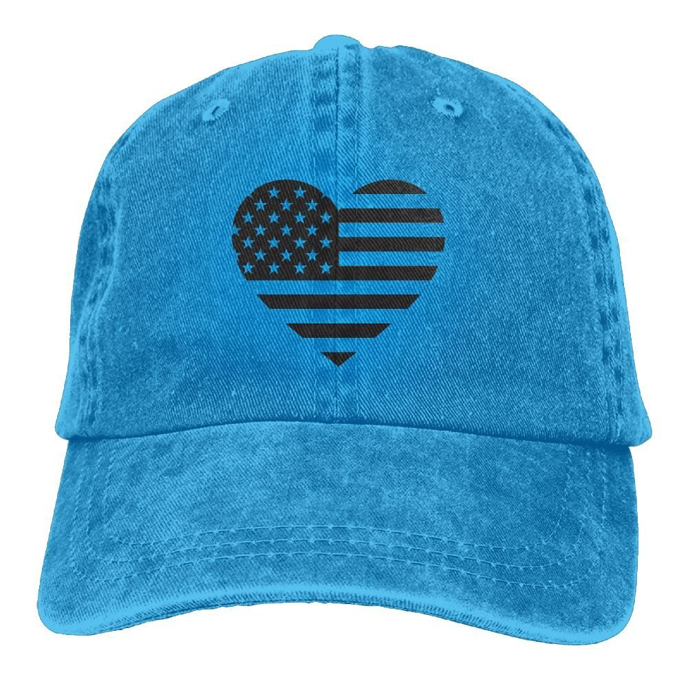 LETI LISW America Flag HeartClassicDad Hat Adult Unisex Adjustable Cap