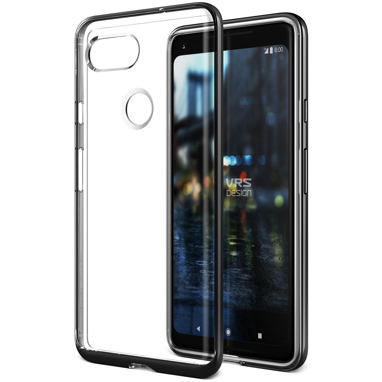 VRS DESIGN Google Pixel 2 XL Case, [Crystal Bumper] Dual Layer Bumper Case Premium Shockproof Heavy Duty PC Cover for Google Pixel 2 XL - Metal Black