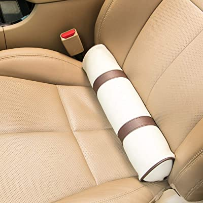 HIPCHAK (Beige - Fully Adhering Lumbar Support Pillow That Relieves Back Pain and Fatigue While Driving - Car Driver Seat Cushion - Anywhere with a Foldable Backrest: Automotive [5Bkhe1502369]