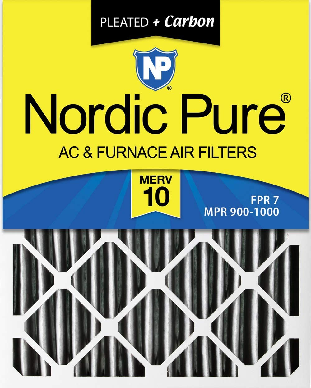 Nordic Pure 20x22x1 MERV 10 Pleated AC Furnace Air Filters 4 Pack