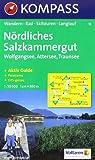 Nördliches Salzkammergut: Wolfgangsee, Attersee, Traunsee. Wander-, Rad-, Skitouren- und Langlaufkarte. Mit Panorama. GPS-genau