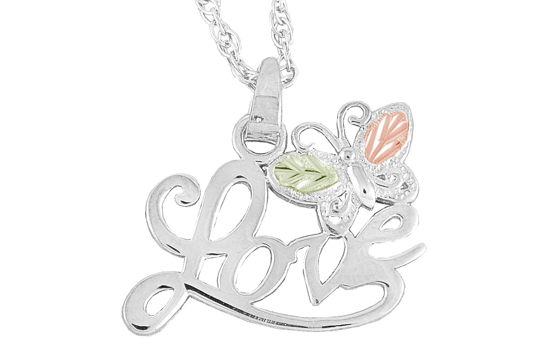 Black Hills Gold Silver Love Necklace
