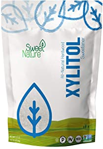 Sweet Nature Birch Xylitol Sweetener - Non GMO - Kosher - Made in the U.S.A. - Keto Friendly (10 LB pack of 1)
