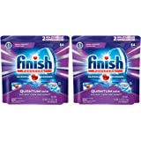 Finish Quantum Max ywvSx Fresh, Automatic Dishwasher Detergent Tablets, Fresh Scent, 64 Count (2 Pack)