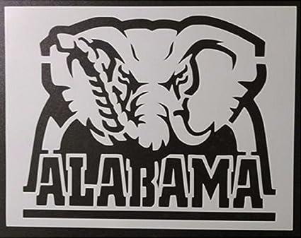 amazon com tns store alabama crimson tide big al elephant 11 x 8 5 rh amazon com University of Alabama Printable Logos university of alabama logo stencil