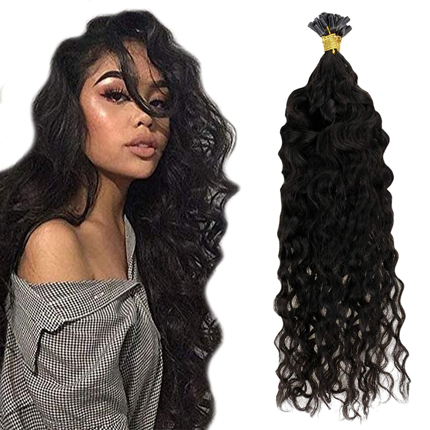 RUNATURE 18inch Wavy Hair Extensions 1g Human 50 Bombing free Max 53% OFF shipping Strand Per