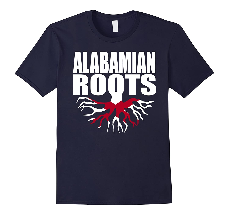 Alabamian Roots Alabama Flag Gift Pride T-Shirt-Vaci