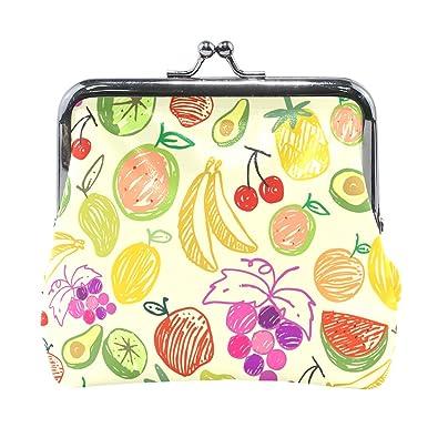 Amazon.com: Monedero de piel con estampado de frutas ...
