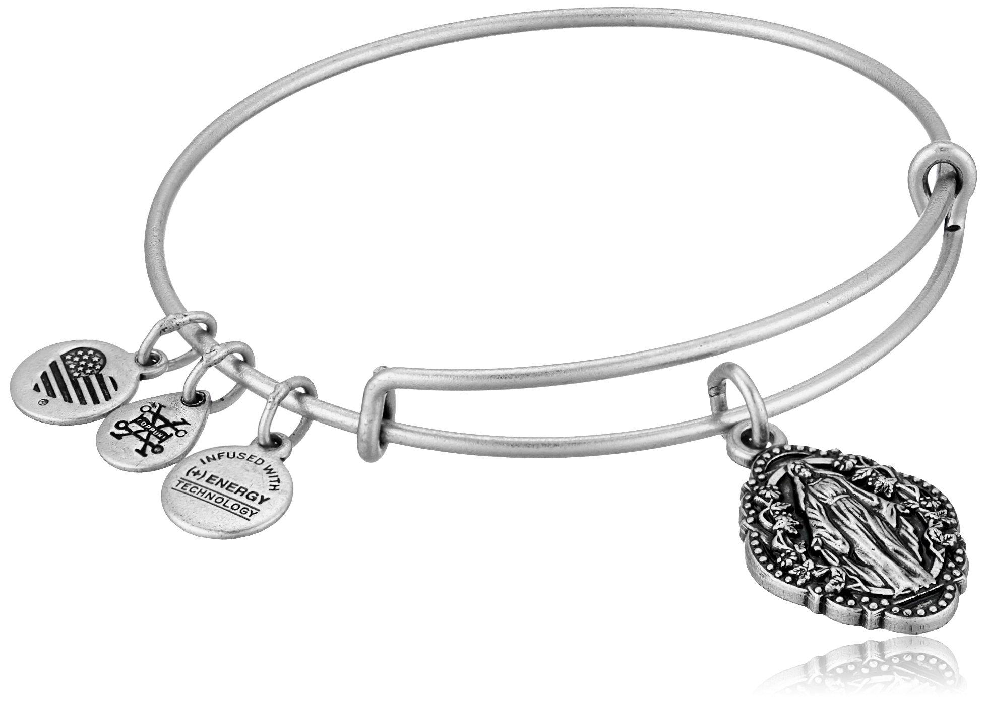 Alex and Ani Mother Mary III EWB Rafaelian Silver Bangle Bracelet