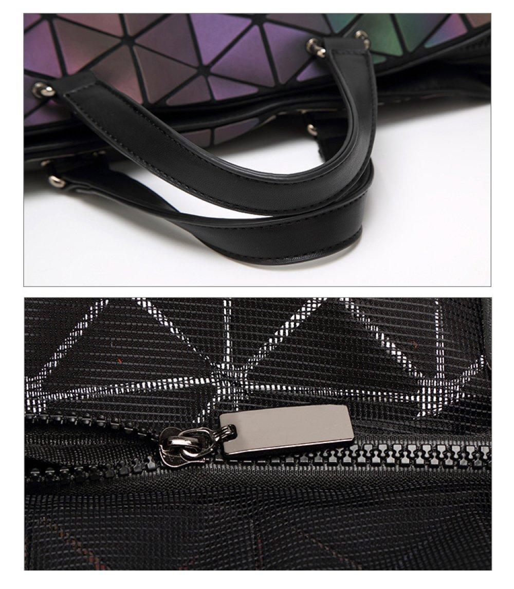 YUEER Leuchtende Geometrische Tasche Aktentasche Damen Gro/ße Kapazit/ät Tragbar Diagonale Tasche Mode Pers/önlichkeit Handtaschen,L-OneSize
