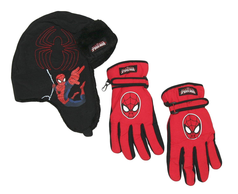 Berkshire Fashions Boys Marvel DC Superhero Winter Trapper Hat Glove Set Boys 4-16)