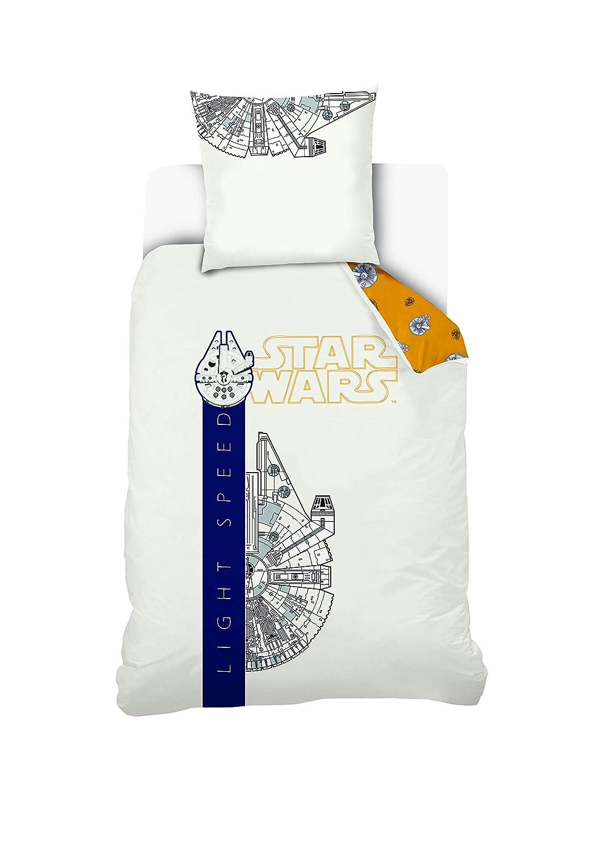 /écru//Jaune 100/% Coton STAR WARS Parure de lit Light Speed 140x200 cm