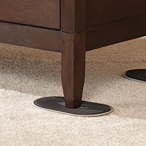 <strong>Reusable Furniture Movers for Heavy Furniture for Carpeted Surfaces (4 Pack) - Oval SuperSliders</strong>