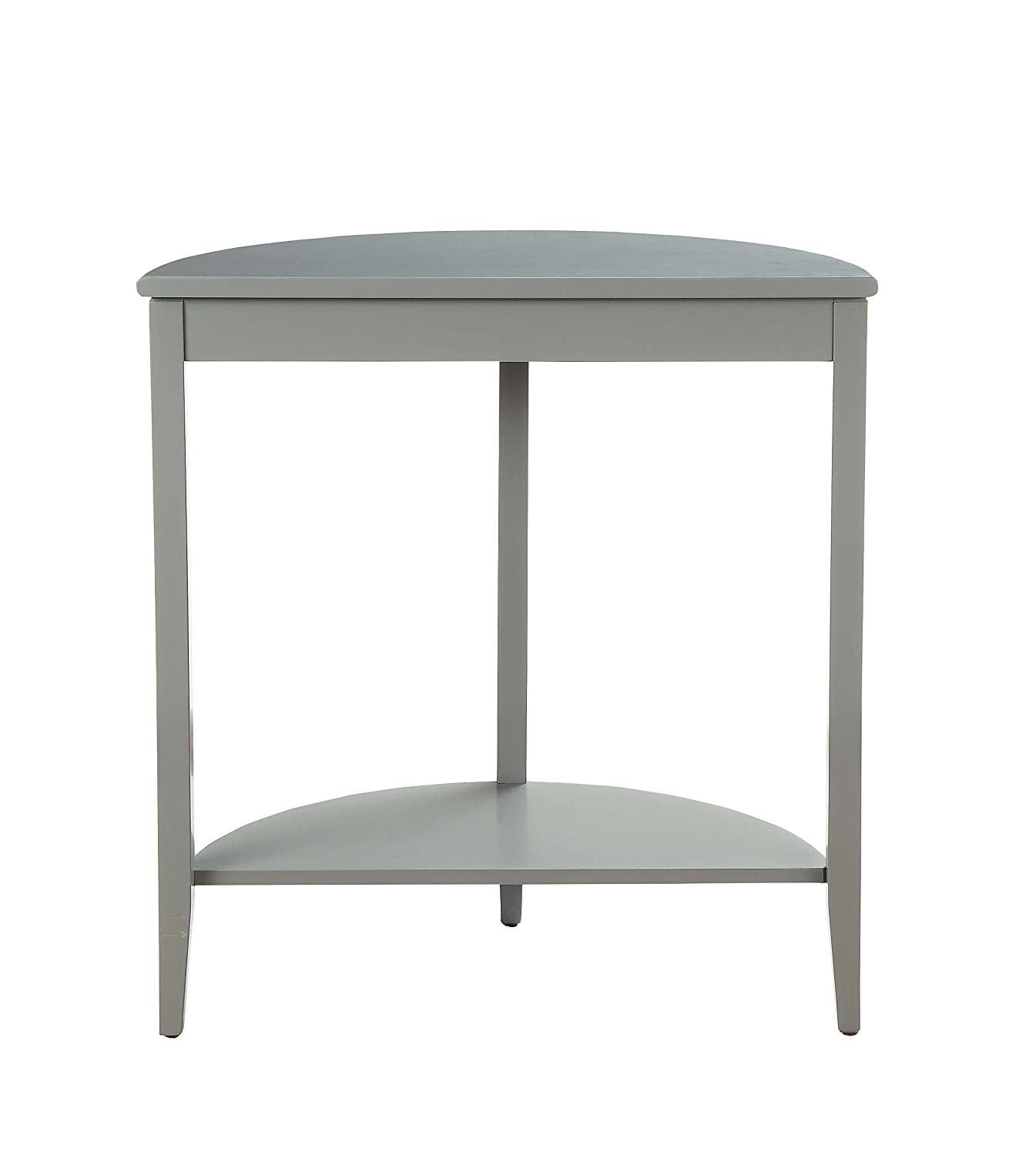 Amazon com acme furniture 90162 justino gray console table 1 size kitchen dining