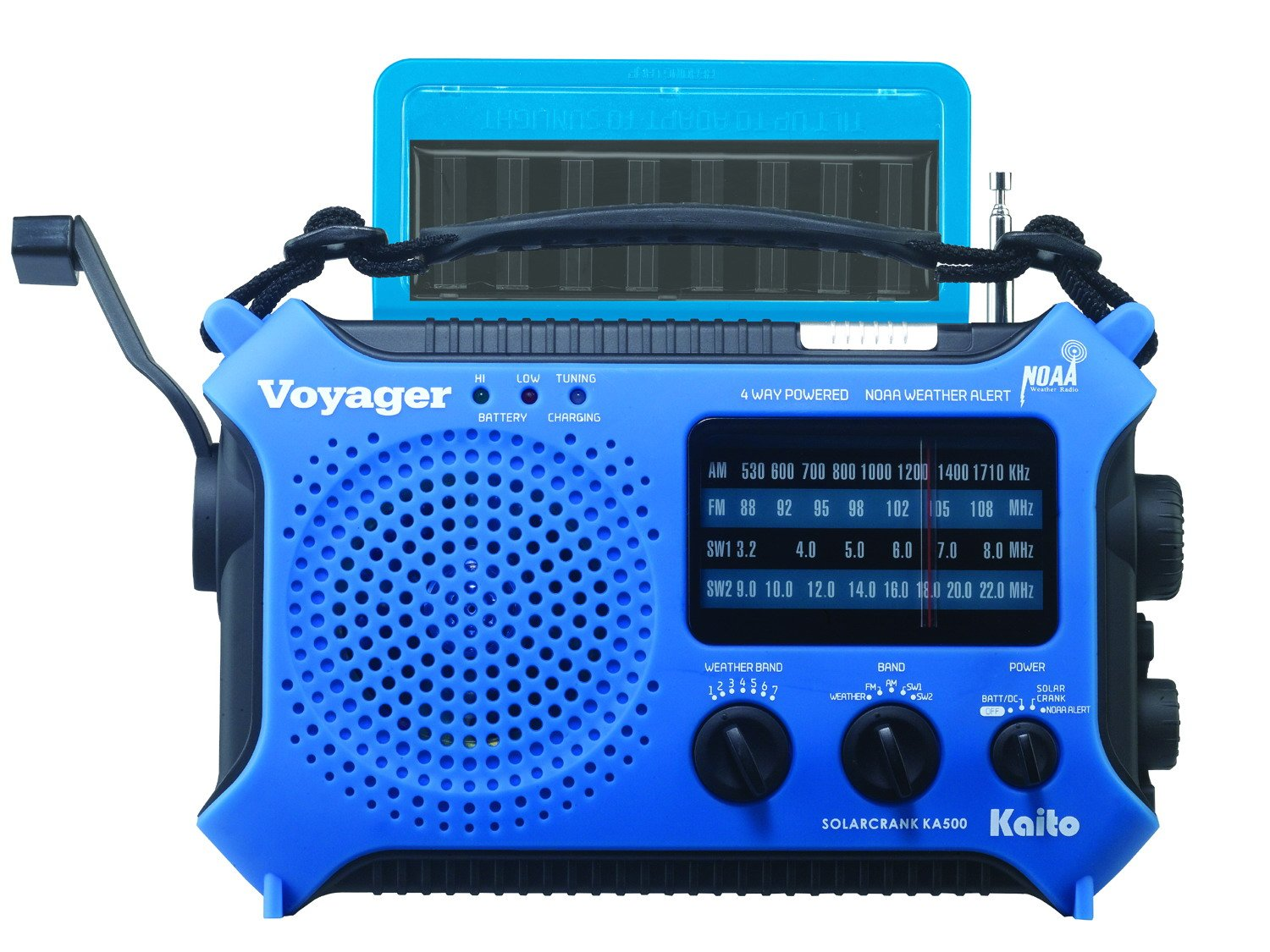 Solar/Crank Emergency Radio w/USB charger