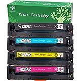 GREENSKY 4 Colori Toner compatibile per HP 201X CF400X CF401X CF402X CF403X Cartuccia toner ad alta resa adatta HP Color LaserJet Pro MFP M277dw M277n M252dw M252n - 4 Pack (Nero, ciano, giallo, magenta)