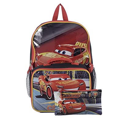 5e934a1361c Image Unavailable. Image not available for. Color  Cars 15 Inch  Multicolored Boys School Backpack ...