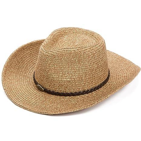 Yxsd Sombrero del sol de la paja de los hombres al aire libre de la playa bea8e9d0c41